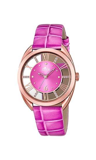 Lotus 18226/1 - Reloj de Pulsera Mujer, Cuero, Color Rosa: Amazon.es: Relojes