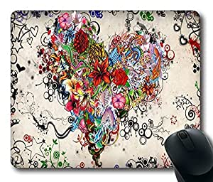 "Tattoo heart Top Game Mouse Pad PC Computer Gaming Mousepad Fabric + Rubber Material in 220mm*180mm*3mm (9""*7"") -827034"