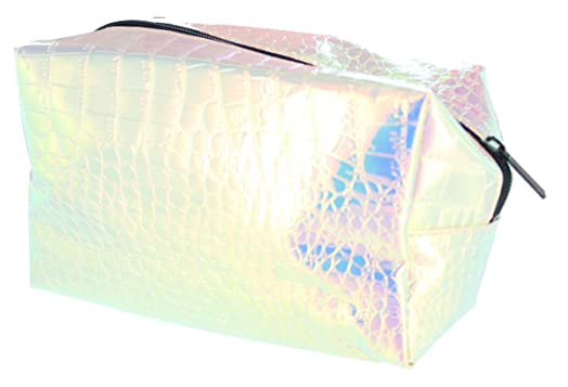holographic makeup bag. technic prism snakeskin holographic cosmetic makeup bag
