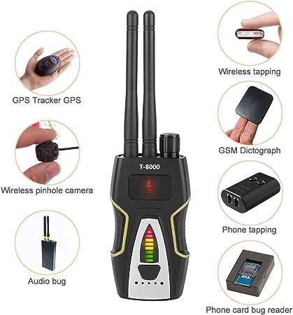 Muxan D/étecteur de micros espions D/étecteur de Signaux RF sans fil cam/éra cach/ée D/étecteur RF Bug Finder