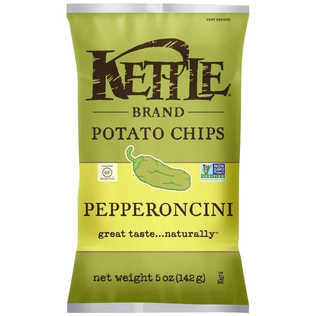 Kettle Brand Potato Chips, Pepperoncini, 5 Ounce