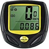 BabyGo Wireless Bike Computer Waterproof Cycle Speedometer Automatic Wake-up for Tracking Riding Speed and Distance Meter (No Backlight)