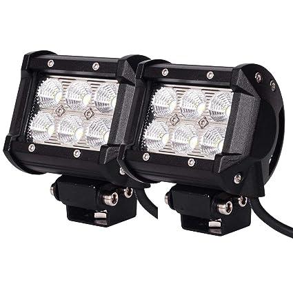 12v Led Light Led Work Lights 12 36 Volts 2 Pack 18w Led Light Bar 4inch Led Flood Beamwork Lights Fog Lights For Off Road Truck Car Atv Suv Boat