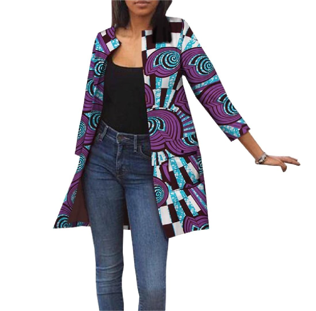 Sankt Women Cardigan Dashiki Jackets Pockets Africa Classic Trench Coat 14 M