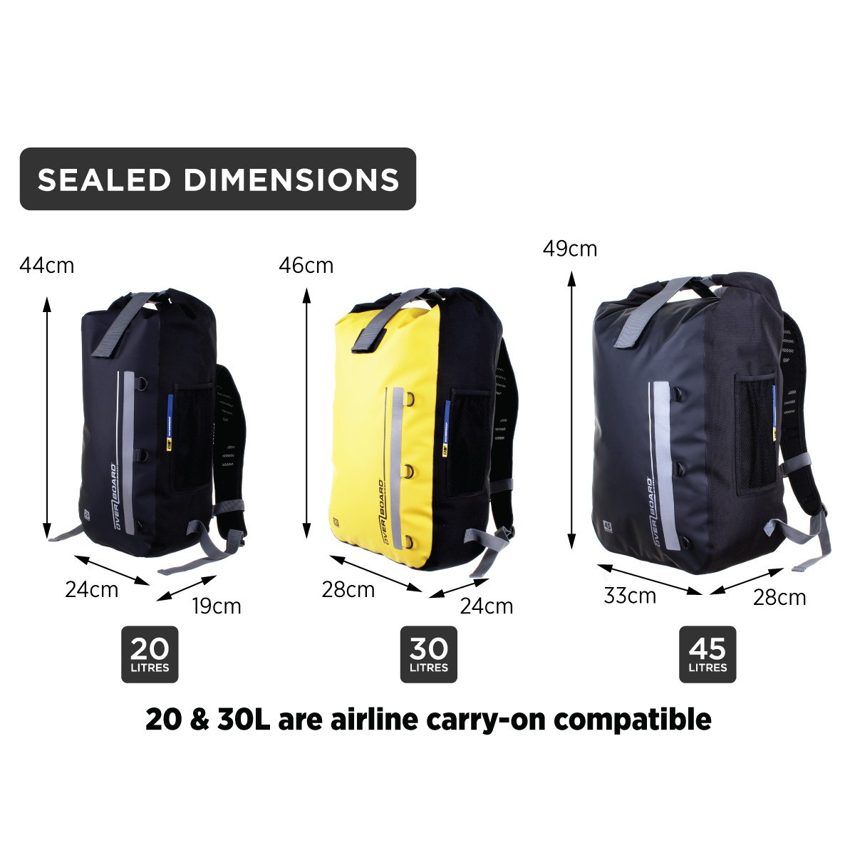 b8656ec85a8 Amazon.com   Overboard Classic 100% Waterproof Backpack Dry Bag   Sports    Outdoors
