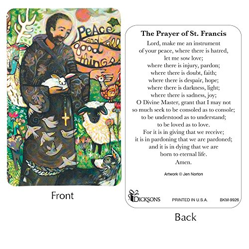 St. Francis Prayer Card Pack of 12