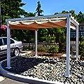 ALEKO 10 x 10 Feet Beige Outdoor Canopy Grape Trellis Pergola from ALEKO