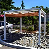 ALEKO 10 x 10 Feet Beige Outdoor Canopy Grape Trellis Pergola