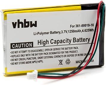 BATER/ÍA POL/ÍMERO DE Litio 1250mAh Compatible con Garmin Edge 605 705 sustituye bater/ías 361-00019-12
