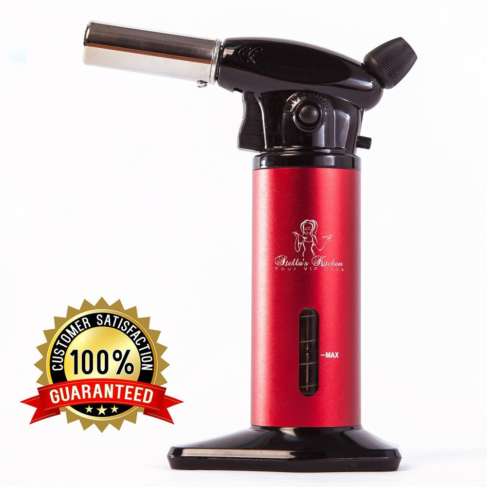 CULINARY TORCH FOR CREME BRULEE-Refillable Kitchen Cooking Blow ...