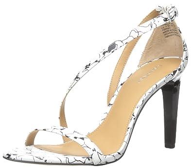 22158e75fd1 Calvin Klein Women s NARELLA Dress Sandal White Black 7 ...