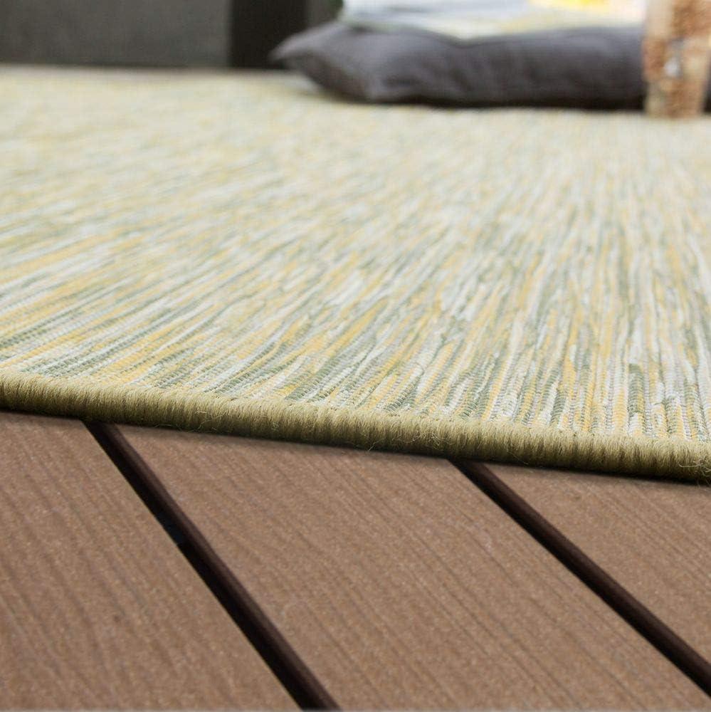 Paco Home Tapis Ext/érieur Balcon Terrasse Gris Rose Vert Couleurs Pastel Tissage /À Plat Dimension:60x100 cm Couleur:Taupe