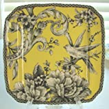 222 Fifth Adelaide Yellow Appetizer / Dessert Plates, Set of 4