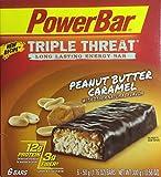 PowerBar Triple Threat Long Lasting Energy Bar, Peanut Butter Caramel, 6 - 50g (1.76 ounce) bars