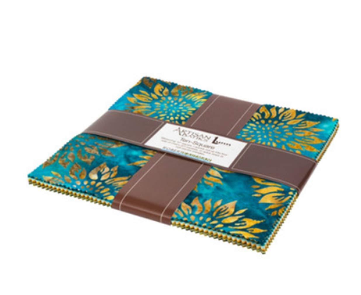 Robert Kaufman Fabrics Artisan Batiks Summer Flowers 42 Ten Inch Squares