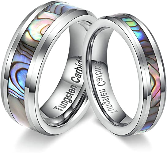 Price for 1 Pcs Tianyi Jewelry Two Tone Promise Rings Stainless Steel Lover Engraved Women Men CZ Bands