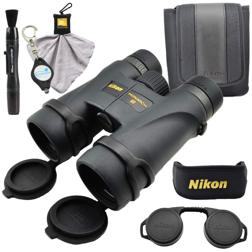 Nikon 7578 Monarch 5 12x42 双眼鏡バンドル ニコンクリーニングクロス、レンズペン、ルミントレイルキーチェーンライト付き   B07JCCXNTB