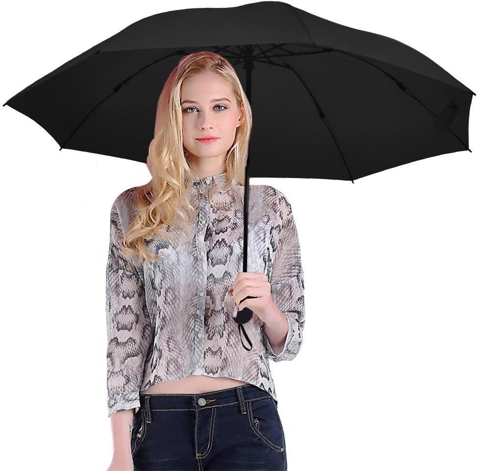 Yosoo Folding Travel Umbrella Automatic Lightweight Compact Portable Windproof Rain Umbrellas