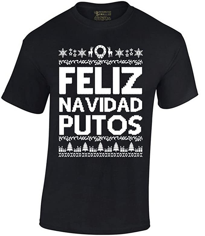Amazon.com: Awkward Styles Feliz Navidad Putos Christmas T-Shirt: Clothing