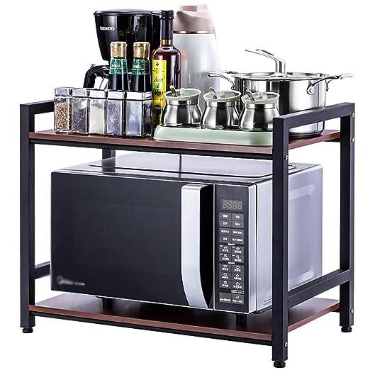 Shelf LYG Estante para Horno de Cocina, 2 Capas, de Madera, para ...