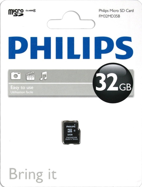 Philips Tarjetas microSD FM32MD35B/10 - Tarjeta de Memoria (32 GB ...