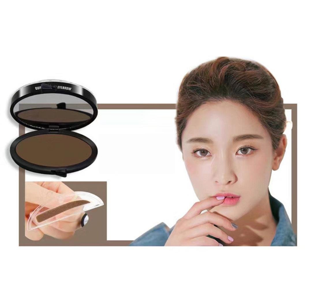 Susenstone Lazy Makeup Eyebrow Powder Brow Stamp Fashion Unique High Quality Brow Powder Makeup (Coffee) Susenstone_1336