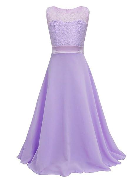 MODETREND Niñas Vestidos Princesa Tutu Niña de las Lace Niños Gasa Vestido Largo para Ceremonia Novia