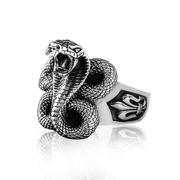 Anillo de serpiente hombre