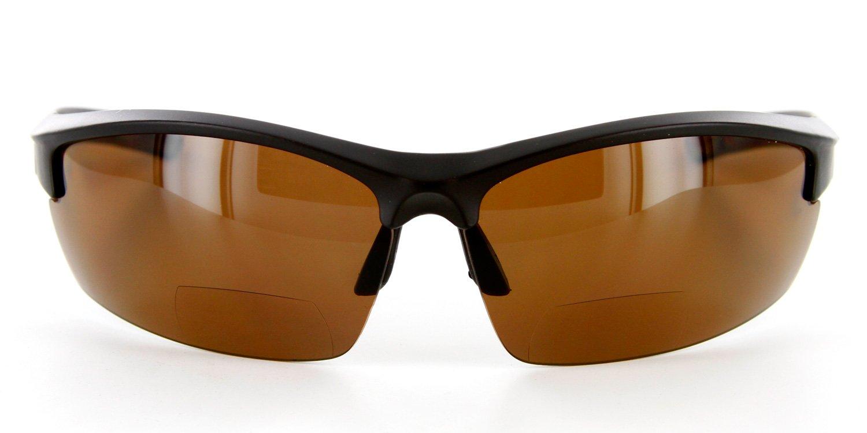 6b2b7add54f Amazon.com  Aloha Eyewear Creekside Wrap-Around Polarized Bifocal Reading  Sunglasses (Black w Amber +1.50)  Health   Personal Care
