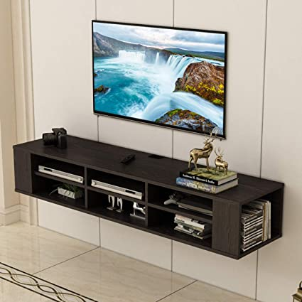 3aa1e794157 Image Unavailable. Image not available for. Color  Holarose 66 Inch Wall  Mounted Audio Video Console ...