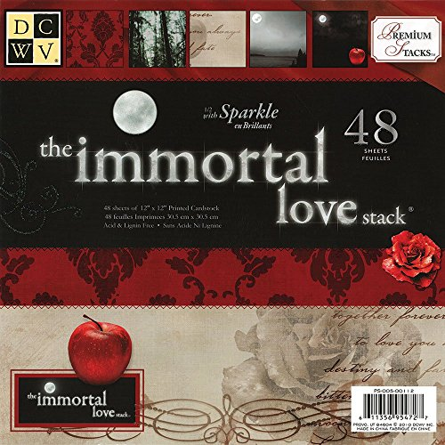 Stack Love - DCWV Premium Stacks, Immortal Love with Sparkle, 48 Sheets, 12 x 12 inches
