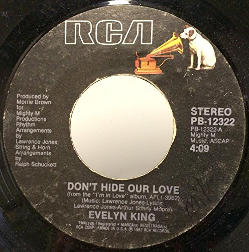 Evelyn Champagne King Don't Hide Our Love / The Best Is Yet To Come 45 rpm single