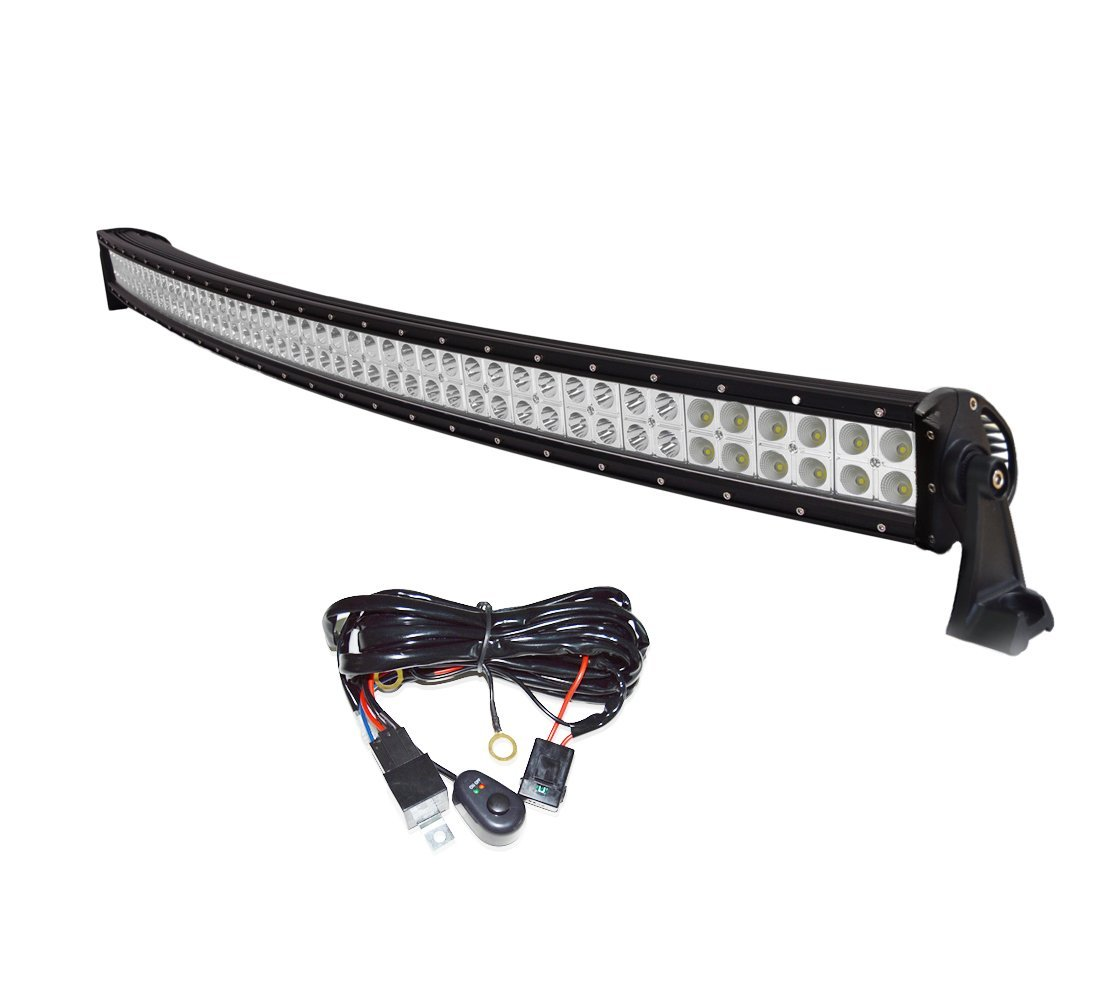 Led Light Bar Simplive 42 240w Curved Off Road Utv Wiring Harness