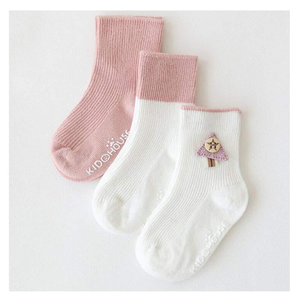 Ziye Shop 3 Pairs Kids Toddler Baby Winter Socks Anti-Slip Soft Cotton Socks