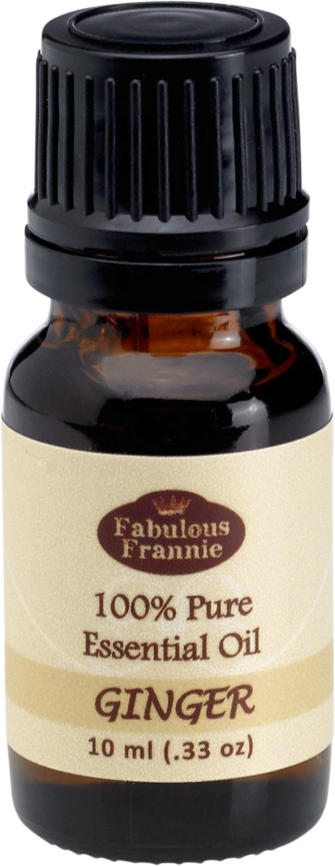 GINGER 100% Pure, Undiluted Essential Oil Therapeutic Grade - 10 ml. Great for Aromatherapy!