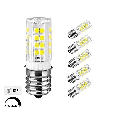 Bombilla LED de cerámica E17 para microondas y horno, 4 W (40 W ...