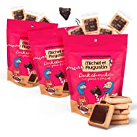 Michel et Augustin Chocolate French Cookie Squares | 3 Pack | Dark Chocolate Sea Salt | 15 Shortbread Cookie Squares Per Bag