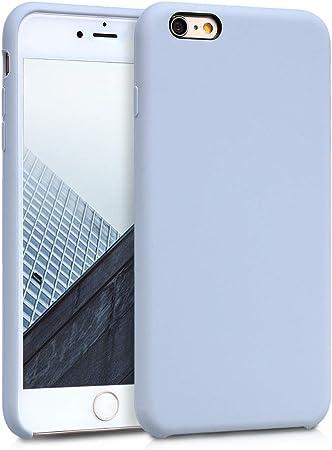 Kwmobile Hülle Kompatibel Mit Apple Iphone 6 Plus 6s Plus Handyhülle Gummiert Handy Case In Hellblau Matt Elektronik