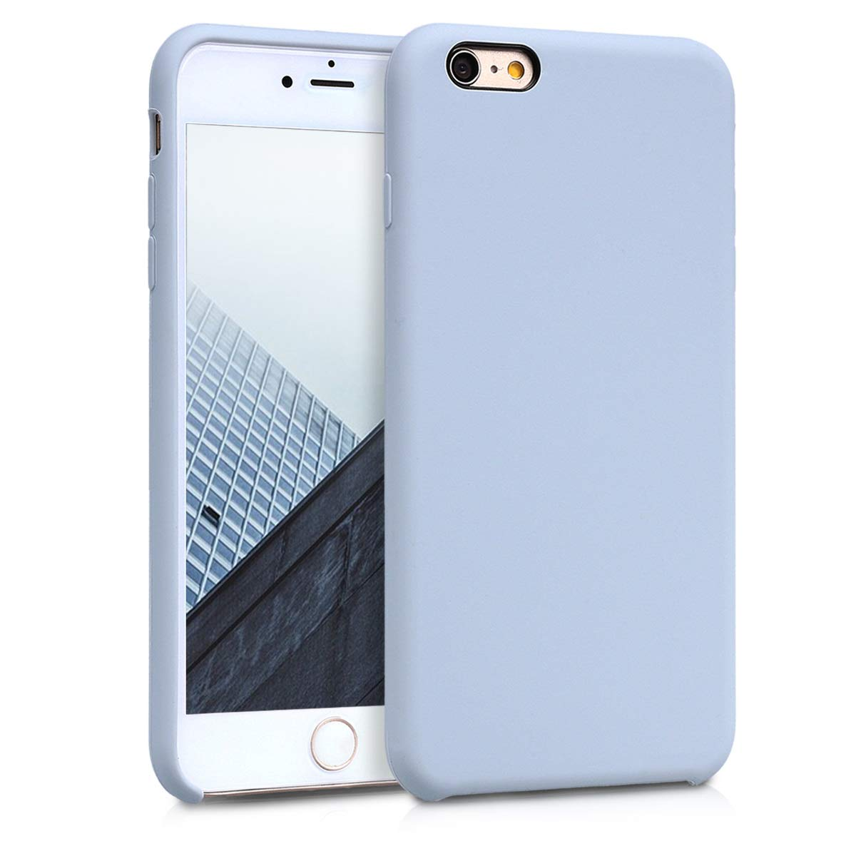6S Plus kwmobile TPU Silicone Case for Apple iPhone 6 Plus Light Grey Matte Soft Flexible Rubber Protective Cover