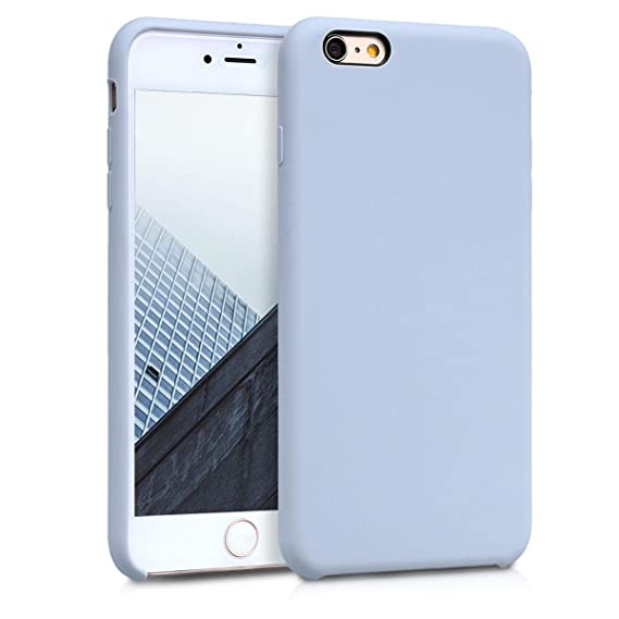 san francisco 4d1a4 b15cd kwmobile TPU Silicone Case for Apple iPhone 6 Plus / 6S Plus - Soft  Flexible Rubber Protective Cover - Light Blue Matte