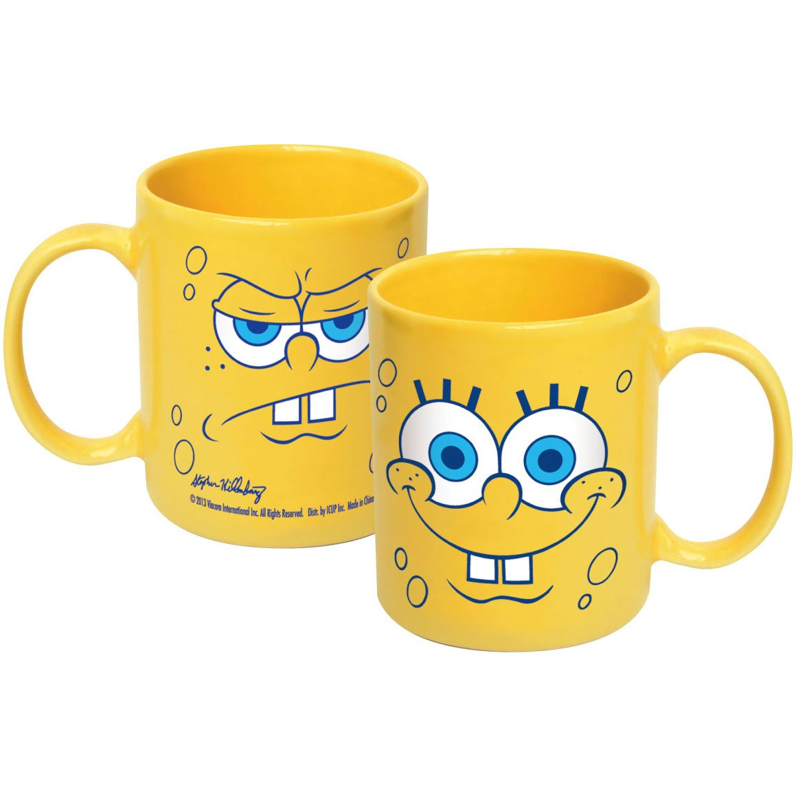 ICUP Spongebob Big Faces Ceramic Mug, 20 oz, Clear