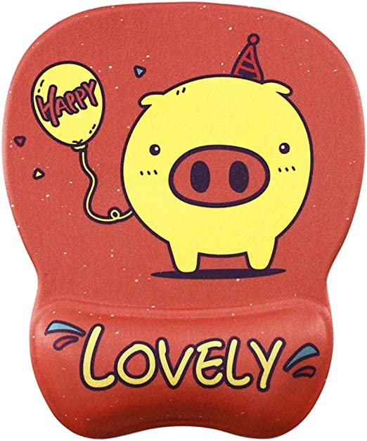 Color : Cartoon Pig GHjkj Bracers Mouse Pad Cartoon Cute Creative Silicone Mouse Pad Comfortable Thick Non-Slip