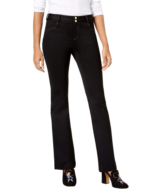 Deepblack INC Womens Ponte Boot Cut Jeans