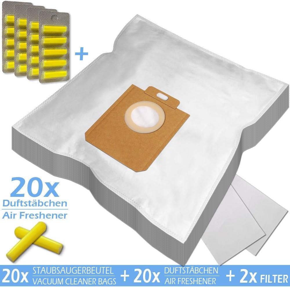 FC8322// Microfibra 20 Sacchetti FC8912// FC8452// 2 FILTRI per ASPIRAPOLVERE Philips S-Bag FC8454// FC8455// FC8916// HR 6988 FC8450// + 20 PROFUMI PowerLife