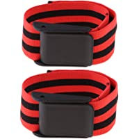 Blesiya Blood Flow Restriction Bands - (2-Pack) Occlusion Arm Training Belts - Strong Elastic Straps - Great Fitness…
