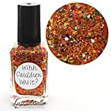 Lynnderella Multi Glitter Multi Color Orange Halloween Nail Polish—Witch Cauldron Was It?
