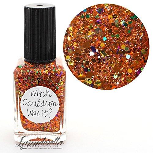 Lynnderella Multi Glitter Multi Color Orange Halloween Nail Polish—Witch Cauldron Was It? by Lynnderella