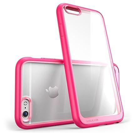 Amazon.com: Funda para iPhone 6S, Transparente/Rosado: Cell ...