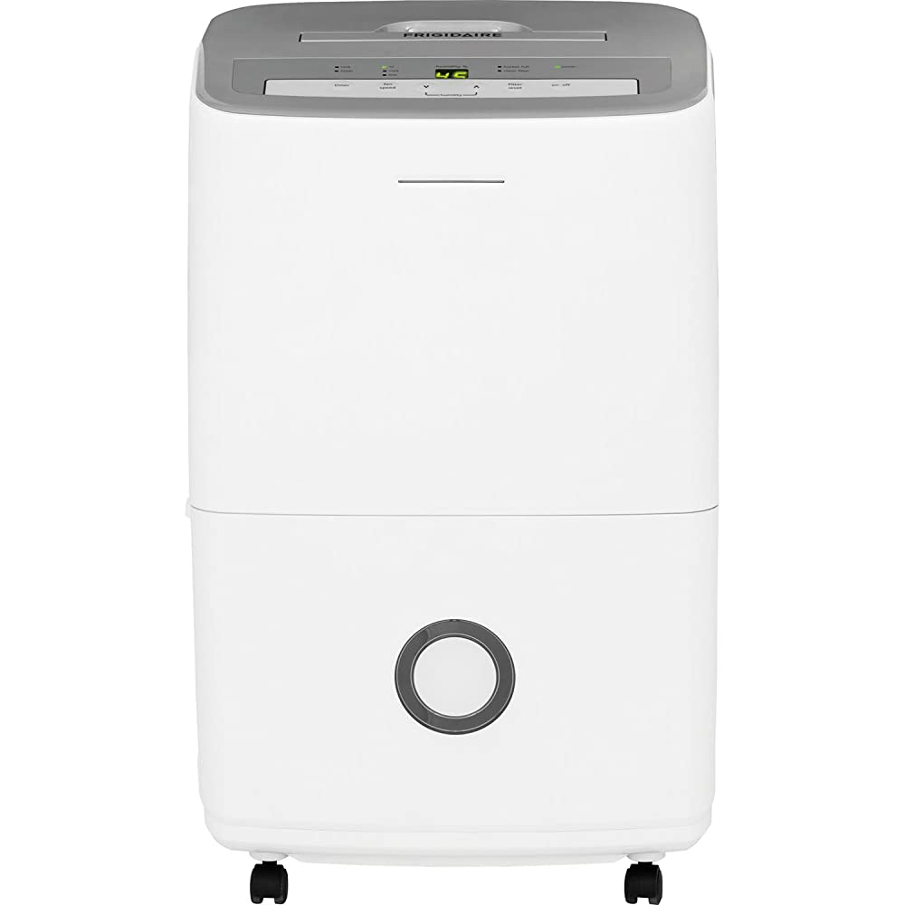 30-Pint Dehumidifier with Effortless Humidity Control, White