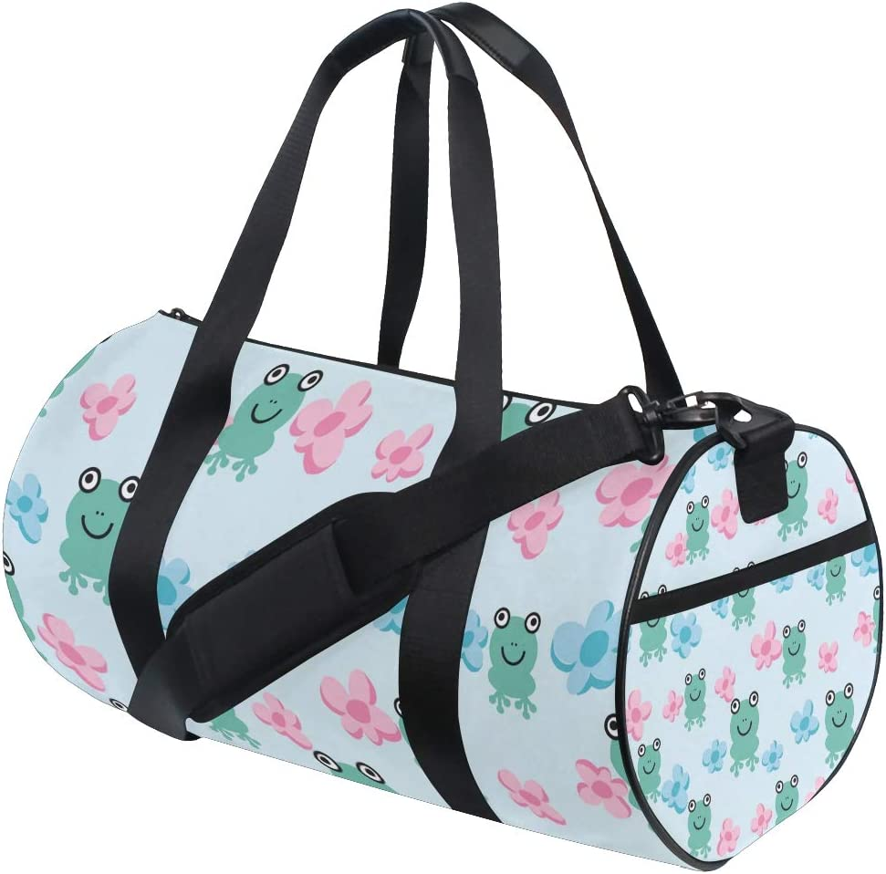 MALPLENA Smiling Frogs Drum gym duffel bag women Travel Bag